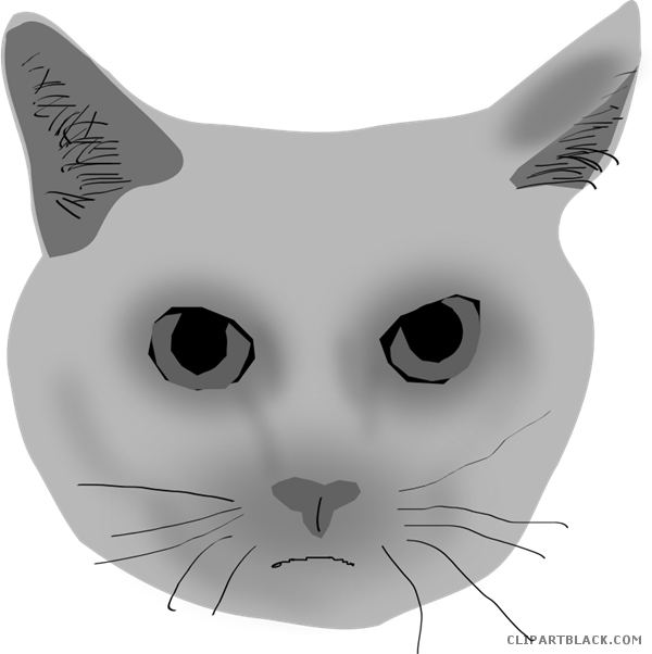 Clipart cat face png black and white stock Cat Face Clipart - Page 3 of 3 - ClipartBlack.com png black and white stock