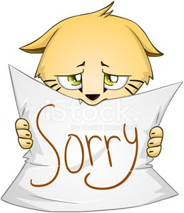 Clipart cat is sorry picture transparent stock Cute Kitten Holds Sign of Apology premium clipart - ClipartLogo.com picture transparent stock