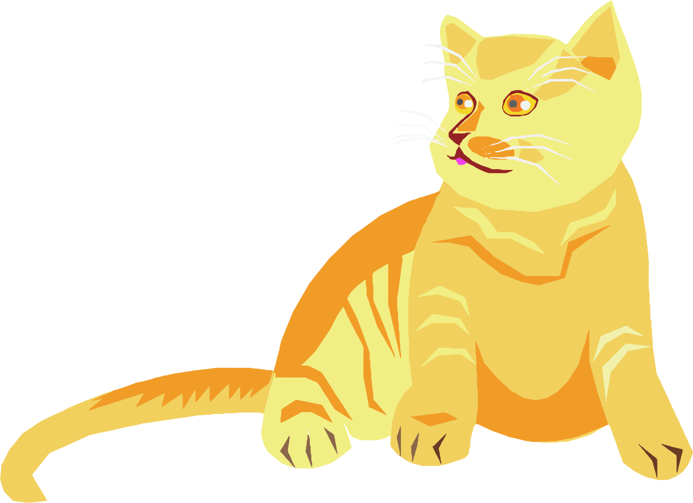 Yellow cat clipart jpg black and white library Clipart - Polygonal Cat jpg black and white library