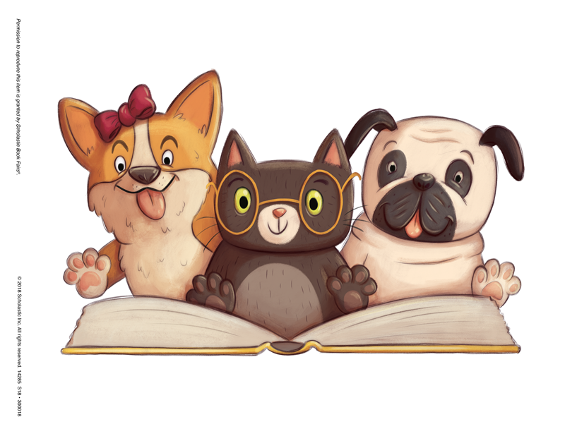 Clipart cat reading a book jpg royalty free download Library Media Center / Scholastic Book fair jpg royalty free download