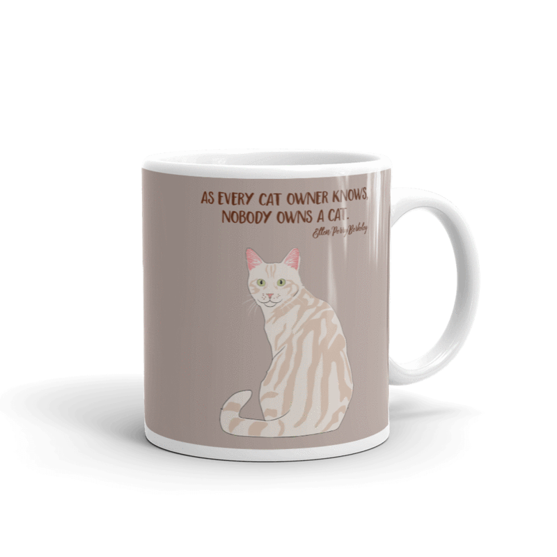 Clipart cat reclining graphic free stock Gifts For People Who Love Cats - Catitude Cat Mugs – Casa Catnip graphic free stock