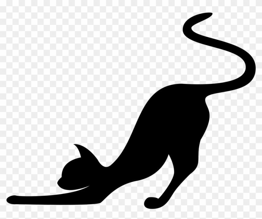 Download Library of jpg library library cat stretching silhouette ...