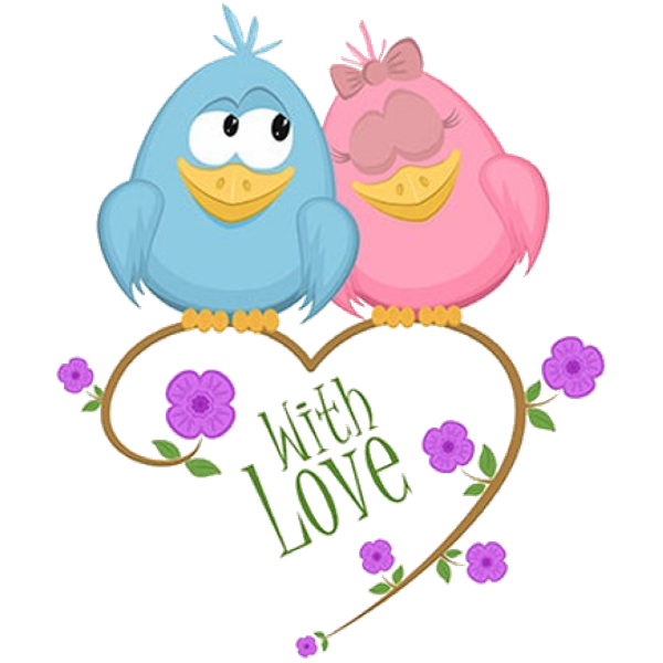 Love birds in a tree clipart png black and white download Cute Love Birds Cartoon Clip Art Images.All Bird Images Are Free For ... png black and white download