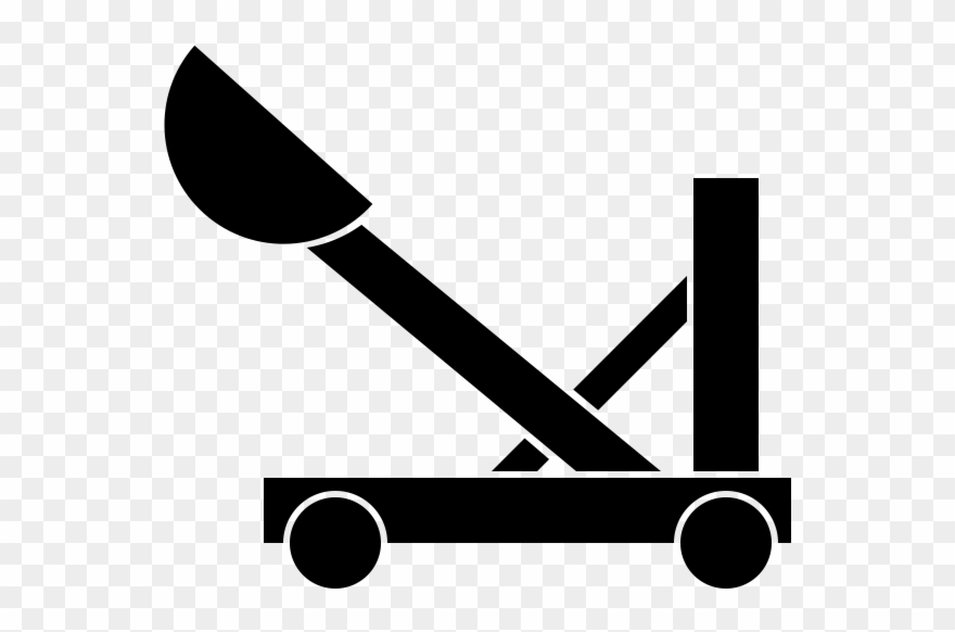 Clipart catapult picture royalty free stock Catapult Rubber Stamp - Catapult Clipart - Png Download (#1085871 ... picture royalty free stock