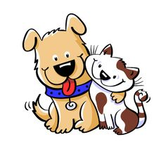 Clipart cats and dogs banner library stock 8 Best dog & cat clipart images in 2014 | Cat clipart, Cartoon dog ... banner library stock