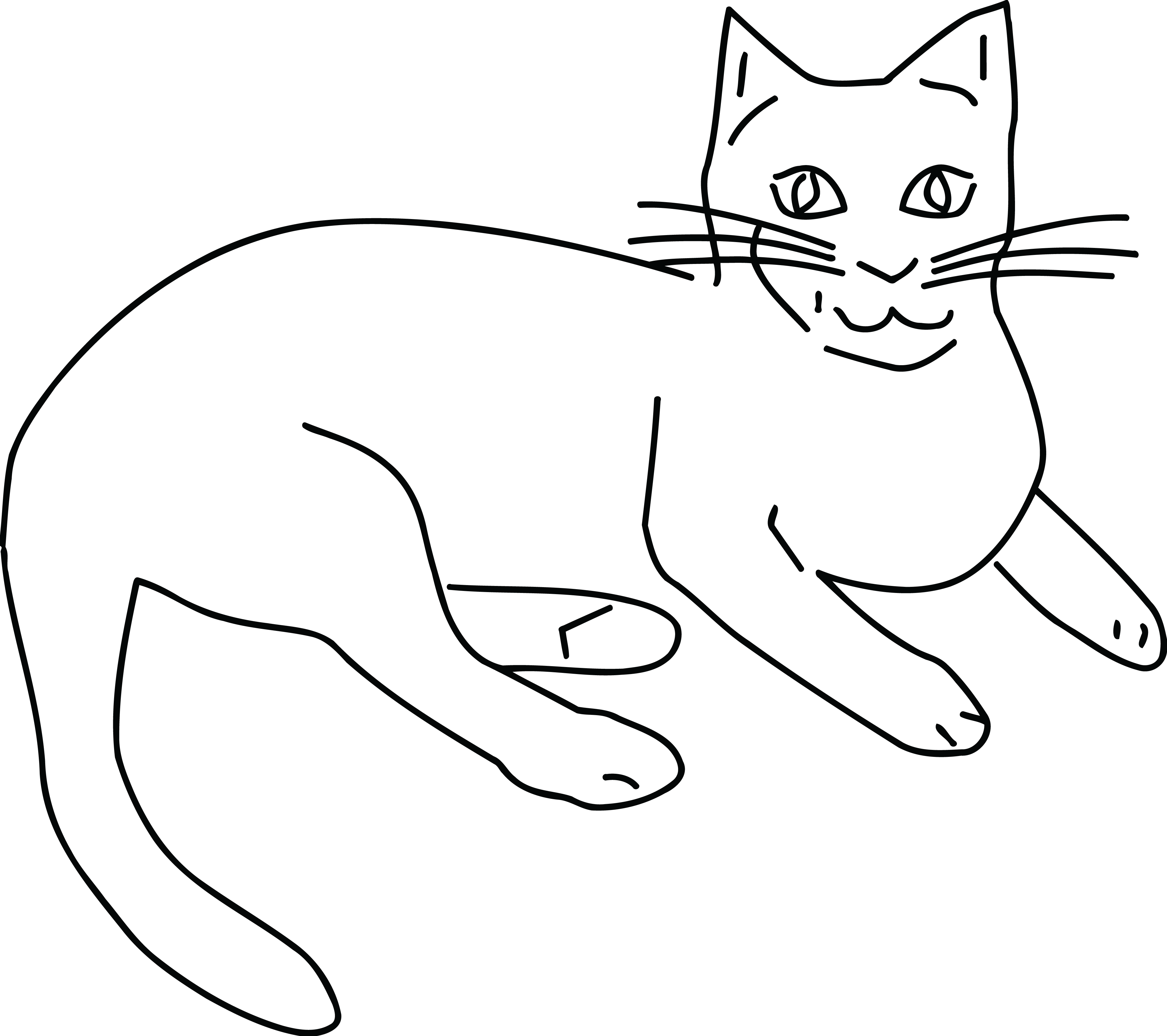 Clipart cats black and white svg royalty free stock HD Free Clipart Of A Black And White Cat - Cat Clipart Black And ... svg royalty free stock