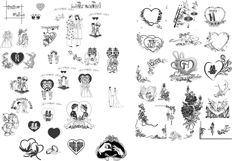 Clipart cdr free download clip art royalty free library Vector heart design wedding invitation card Free Vector Cdr Free ... clip art royalty free library