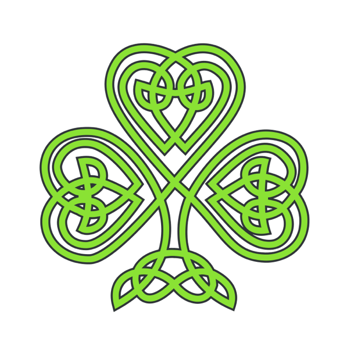 Clipart celtic cross banner royalty free clover drawings | Clipart of Shamrocks and Four Leaf Clovers ... banner royalty free