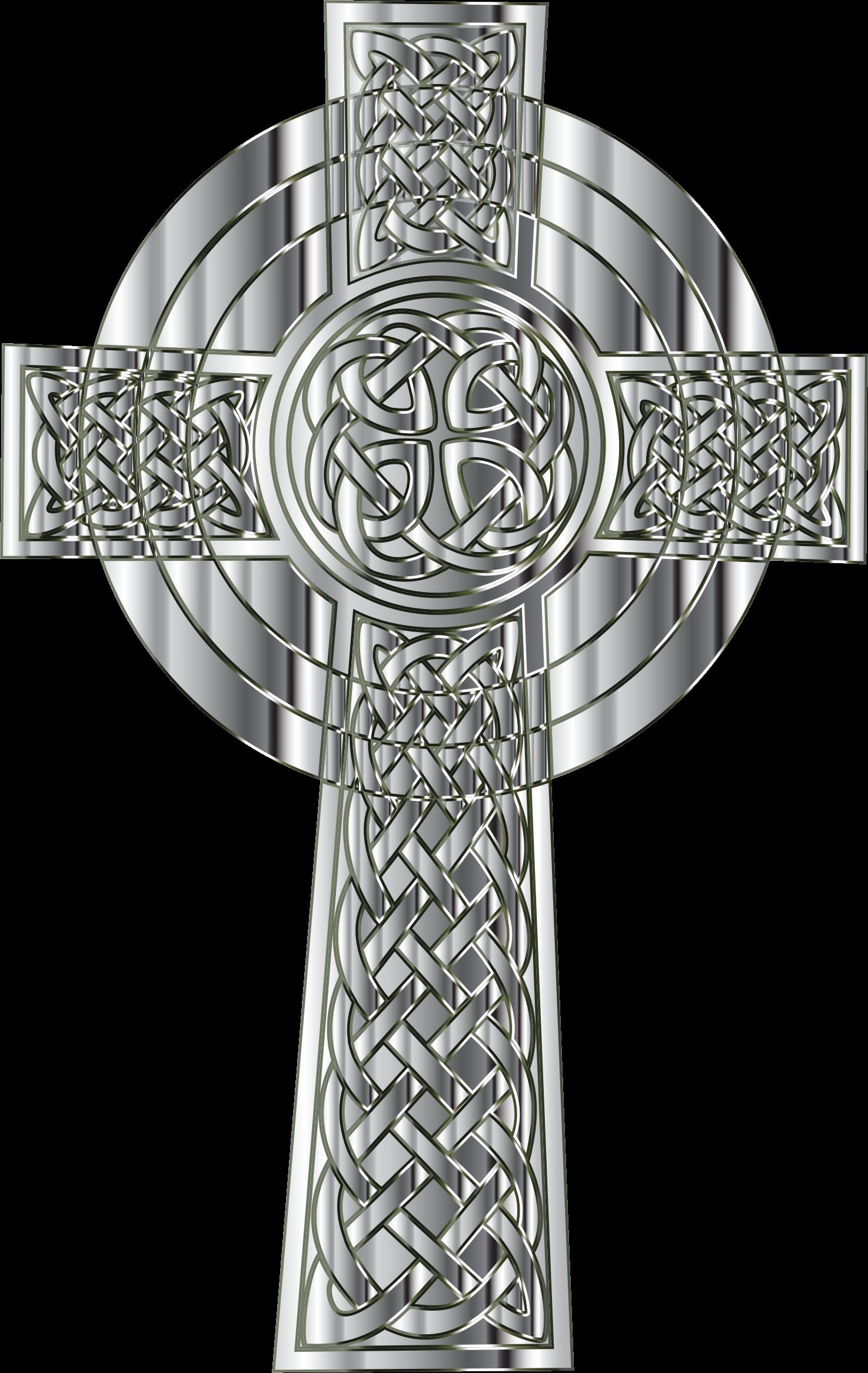 Clipart of celtic cross clip art freeuse download Clipart - Chrome Celtic Cross clip art freeuse download
