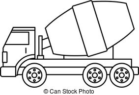 Clipart cement mixer black and white clipart royalty free library Truck concrete mixer icon simple. Truck concrete mixer icon in ... clipart royalty free library