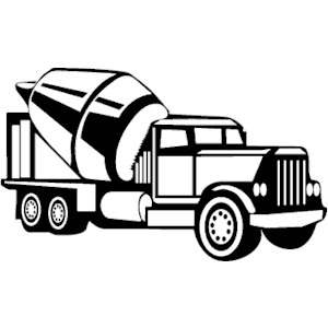 Clipart cement mixer black and white png transparent download Cement Truck 3 | Stencil & Silhouette | Cement, Clip art, Vector format png transparent download