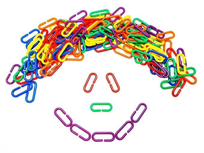 Clipart chain links manipulatives clip art freeuse Amazon.com: Skoolzy Linking Math Manipulatives Learning Toys - 120 ... clip art freeuse