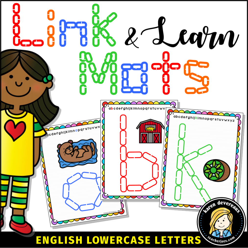 Clipart chain links manipulatives clip art stock Link & Learn Mats: Lowercase Letters clip art stock
