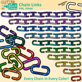 Clipart chain links manipulatives picture free stock Chain Link Clip Art: Counting and Sorting Graphics {Glitter Meets Glue} picture free stock