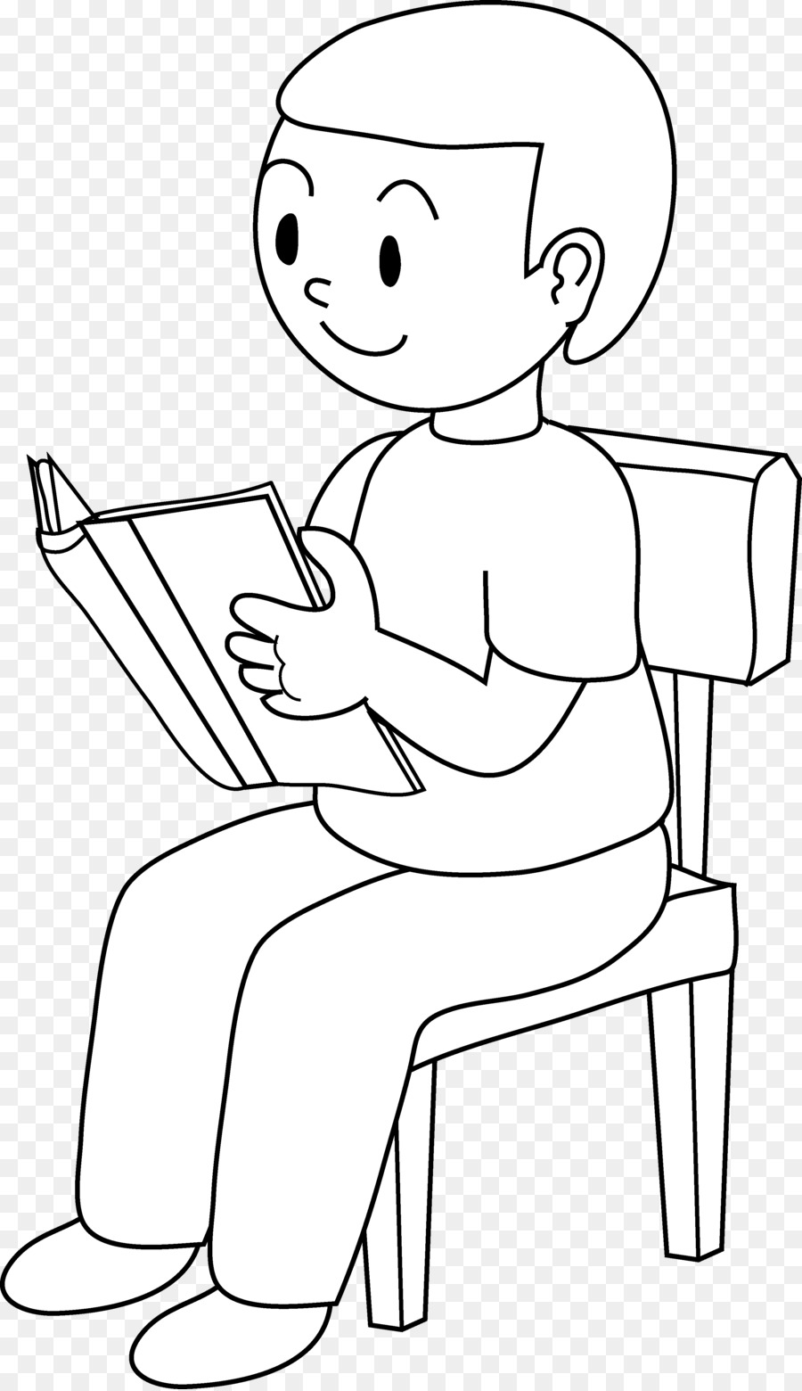 Clipart chair boy sitting clipart stock Png African American Boy Sitting On Chair & Free African American ... clipart stock