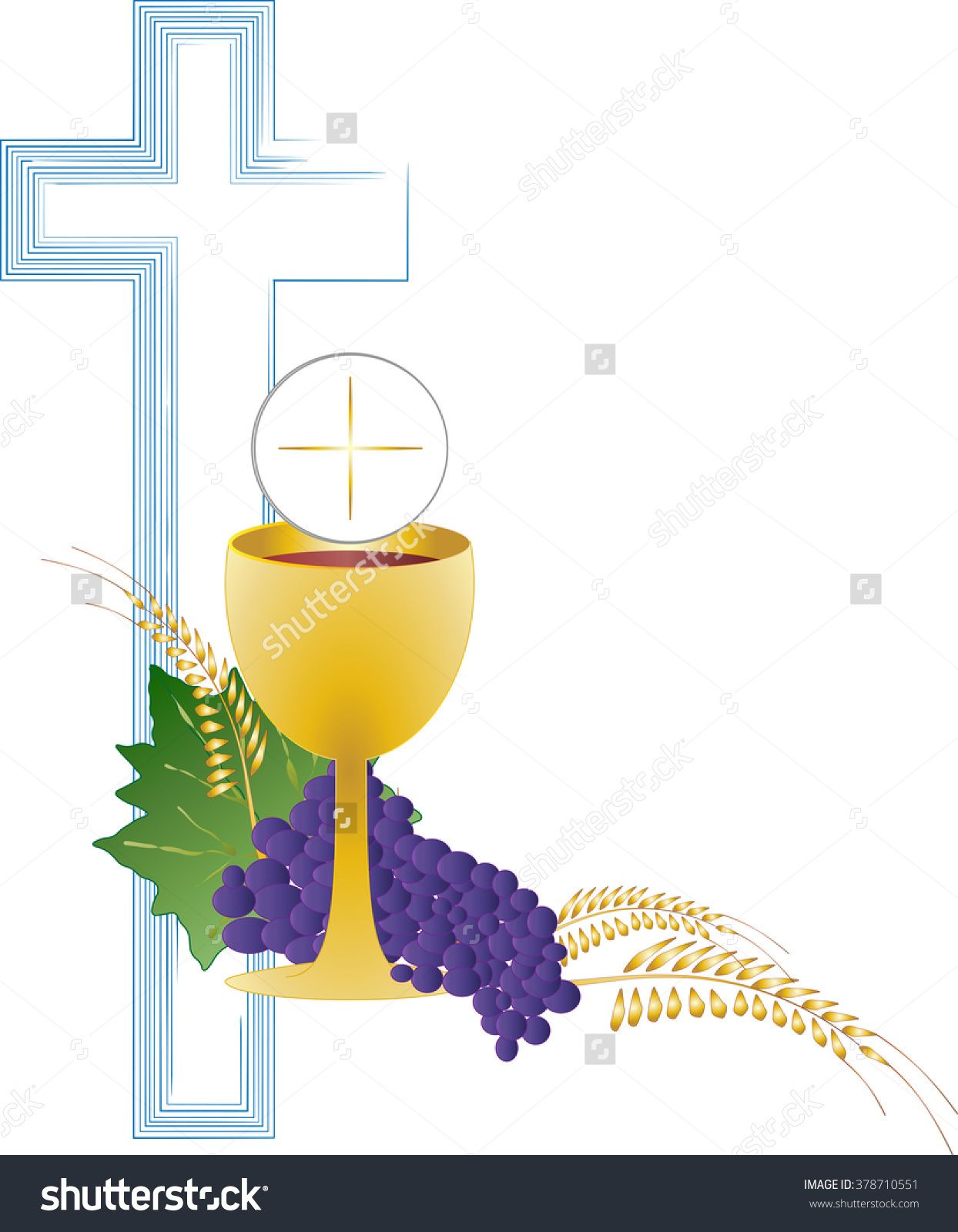 Clipart chalice and bread royalty free Eucharist Symbol Of Bread And Wine, Chalice And Host, With Wheat ... royalty free