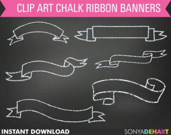 Clipart chalkboard banners