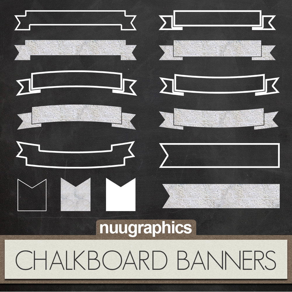 Clipart chalkboard banners clipart royalty free Chalkboard Banner Clipart - Clipart Kid clipart royalty free