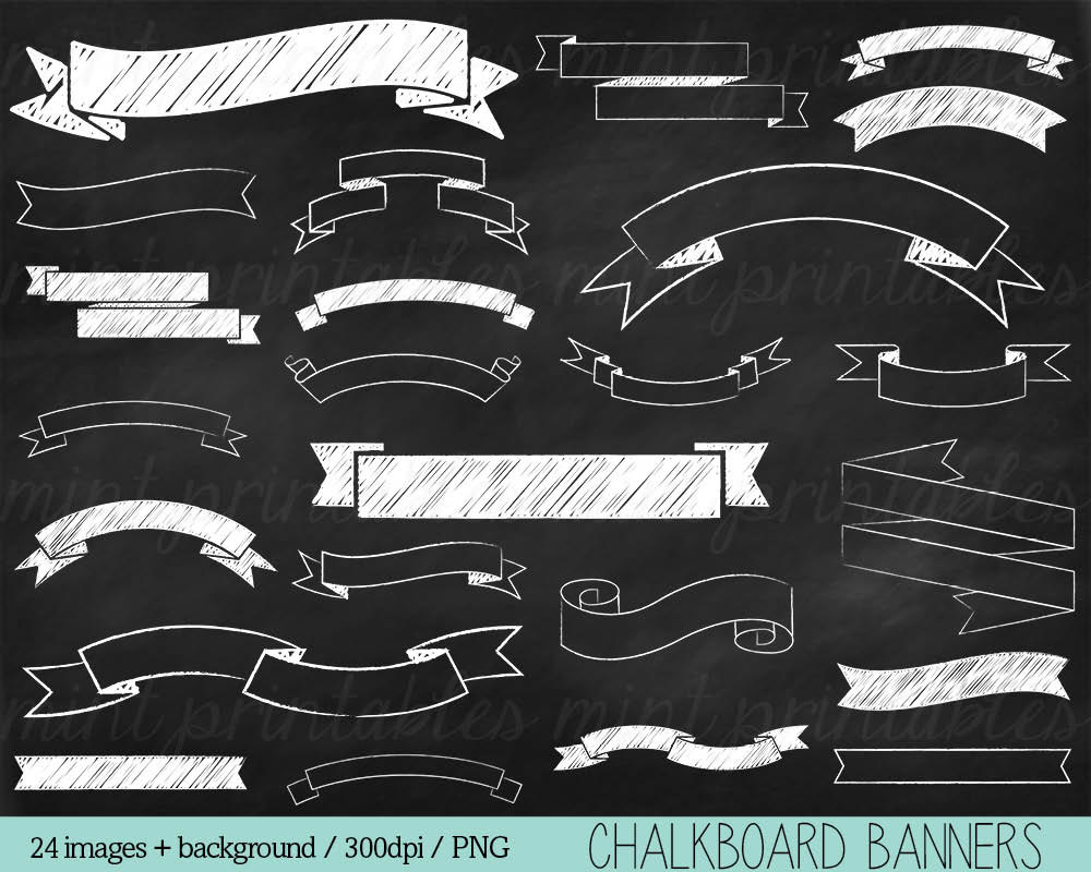 Clipart chalkboard banners clip art freeuse download Free chalkboard banner clipart - ClipartFest clip art freeuse download