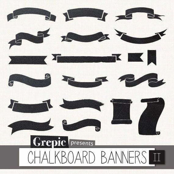 Clipart chalkboard banners graphic royalty free stock 17 Best ideas about Chalkboard Banner on Pinterest | Title page ... graphic royalty free stock