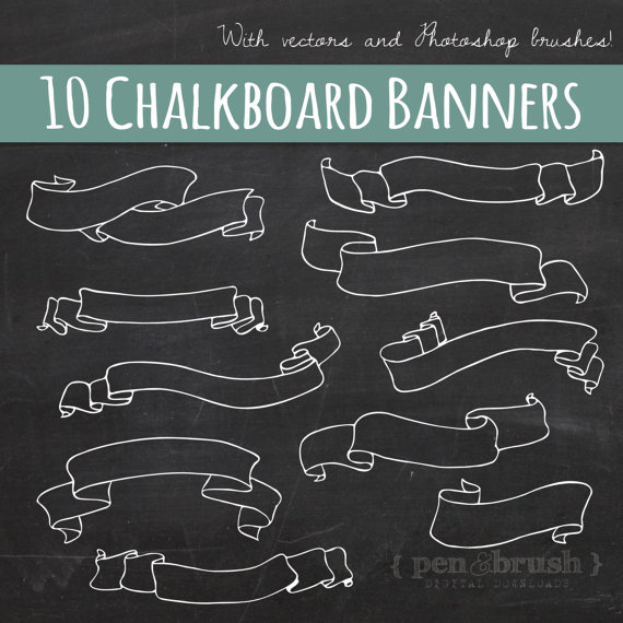 Clipart chalkboard banners png Chalkboard Banner Clipart - Clipart Kid png