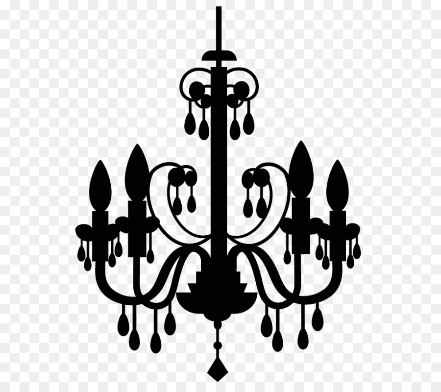 Clipart chandelier black and white download Light Cartoon png download - 800*800 - Free Transparent Chandelier ... black and white download