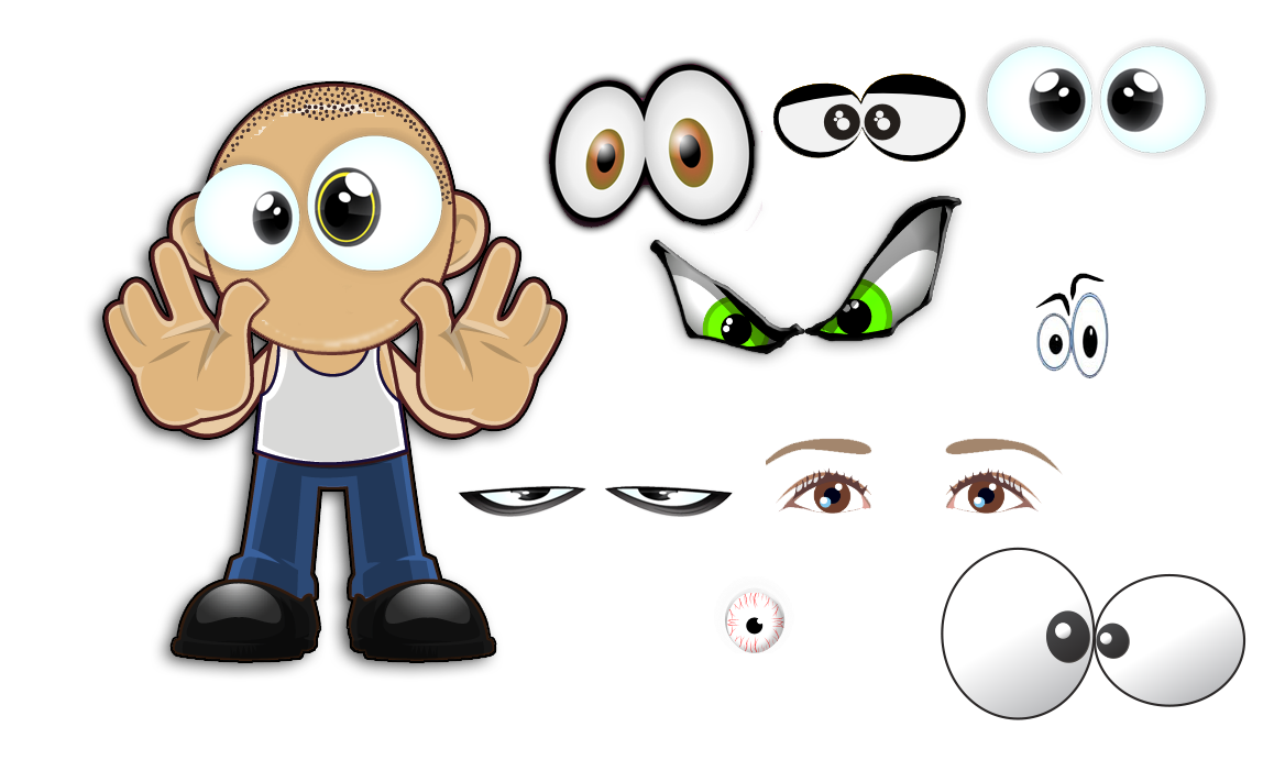 Clipart character creator png black and white stock cartoon-eyes.png png black and white stock