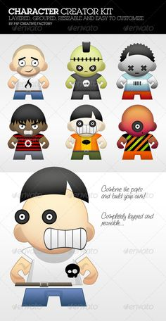 Clipart character creator image royalty free Man Character Creation Kit | Colors, The o'jays and Geek culture image royalty free