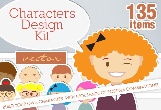 Clipart character creator clipart black and white stock Build your own Characters with this Vector Characters & Monsters ... clipart black and white stock