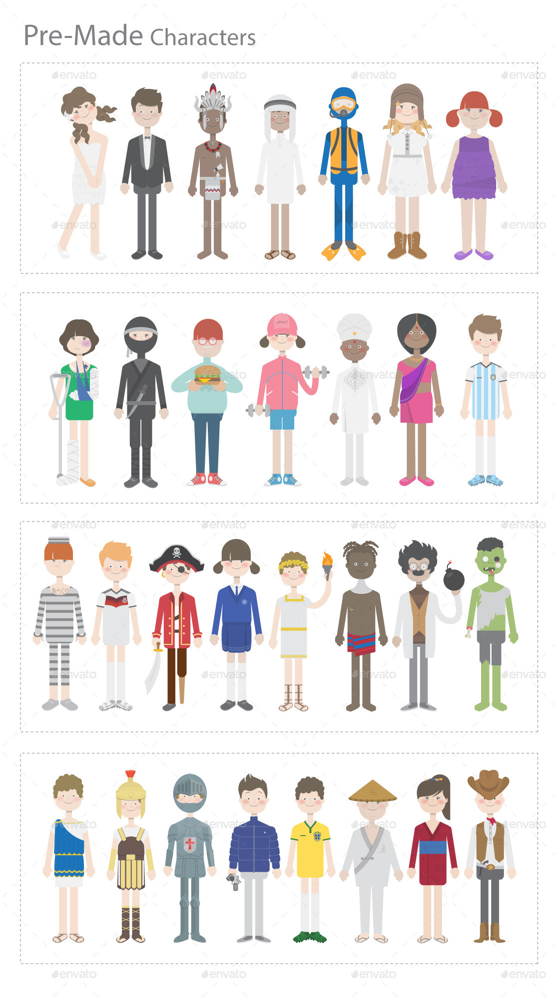 Clipart character creator picture transparent library Pixity Character Creator Kit by PixFlow | GraphicRiver picture transparent library