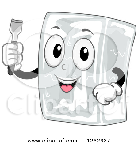 Clipart character in a block of ice banner Royalty-Free (RF) Clipart Illustration of a Happy Ice Cube ... banner