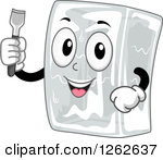 Clipart character in a block of ice png black and white stock Royalty-Free (RF) Clipart Illustration of a Happy Ice Cube ... png black and white stock
