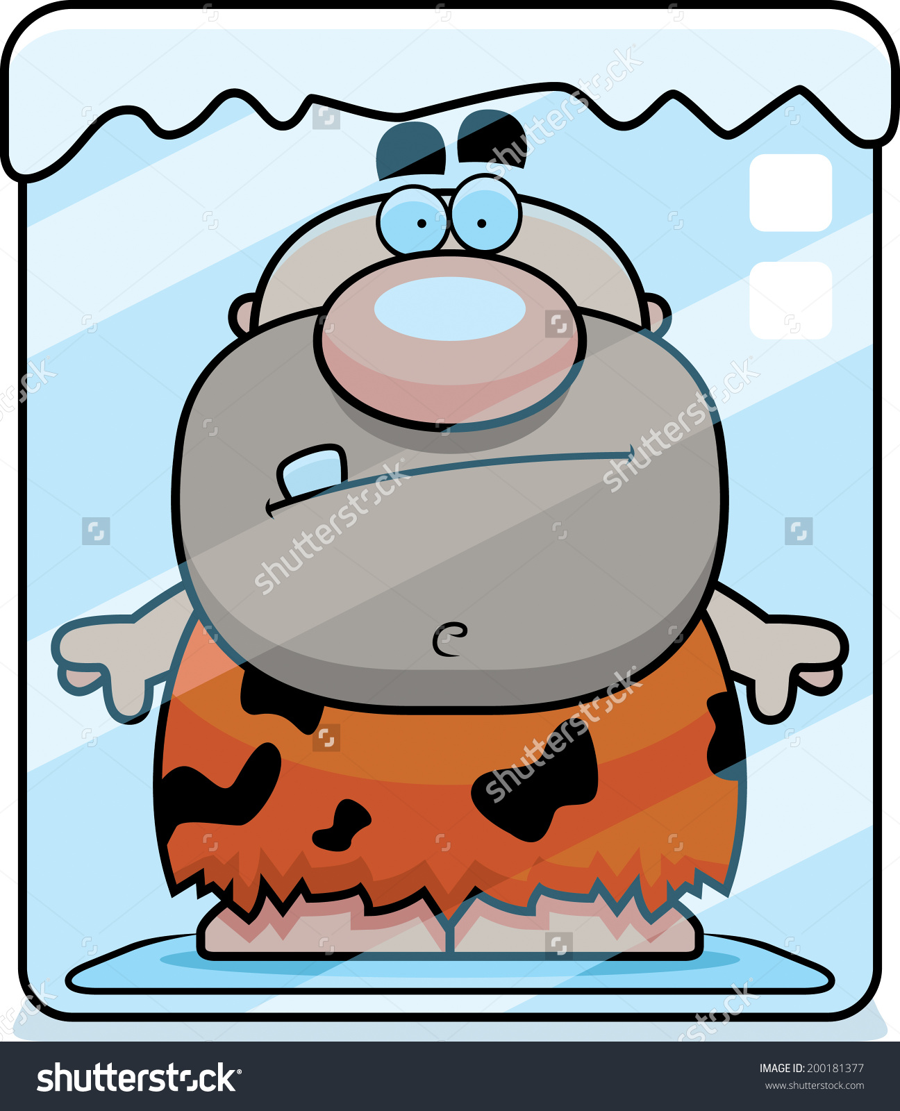 Clipart character in a block of ice vector transparent download Cartoon Caveman Frozen Block Ice Stock Vector 200181377 - Shutterstock vector transparent download