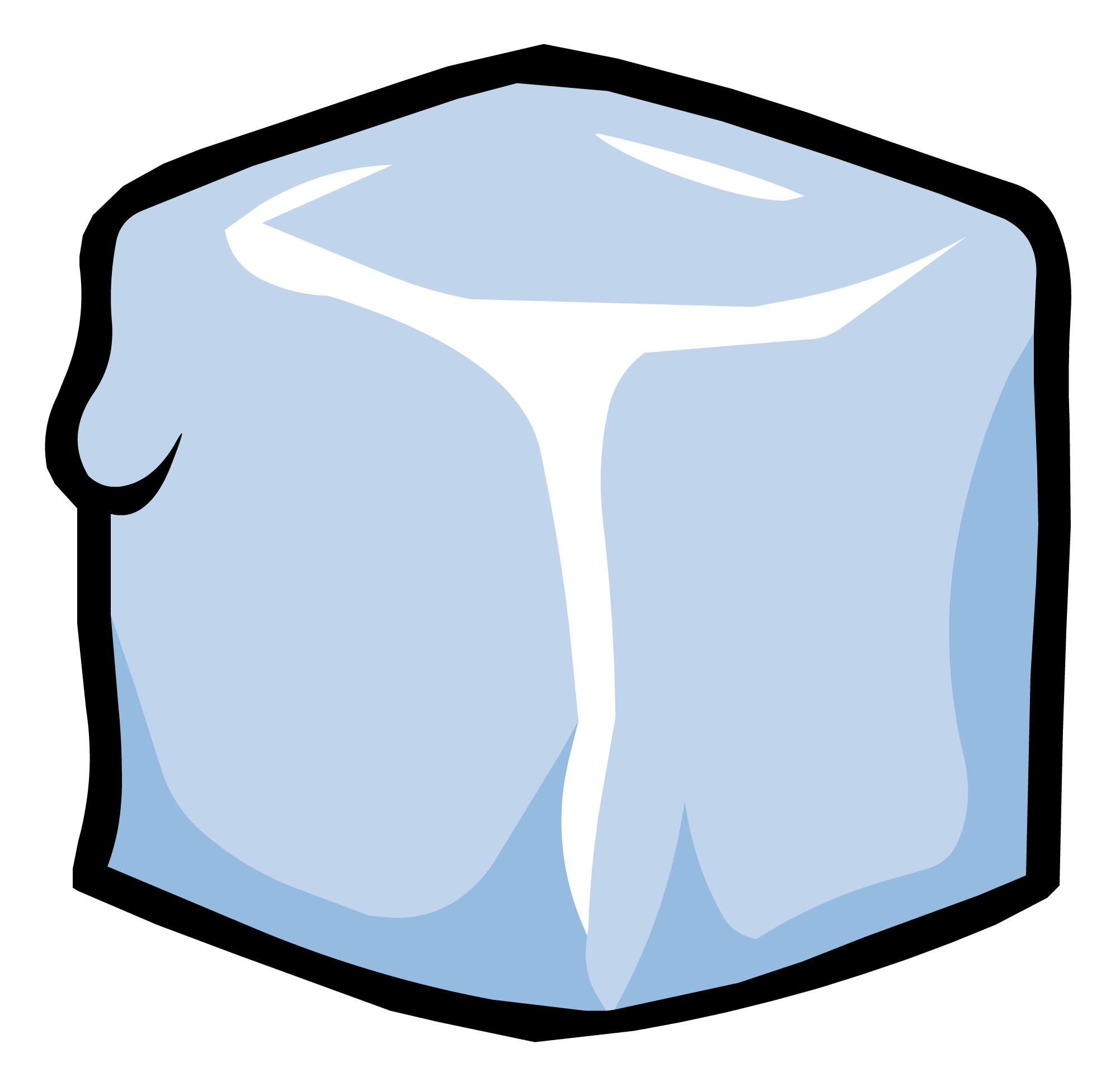 Clipart character in a block of ice clip black and white Ice Block pin | Club Penguin Wiki | Fandom powered by Wikia clip black and white