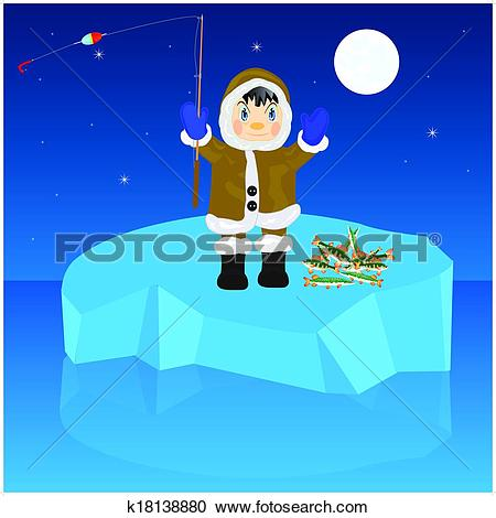 Clipart character in a block of ice clipart library Clipart of Fisherman on block of ice k18138880 - Search Clip Art ... clipart library