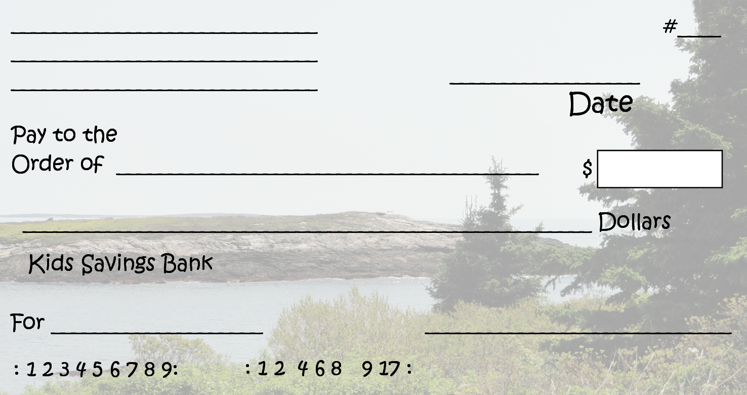 Clipart checkbook picture stock Free Clipart N Images: Printable Pretend Checks For Kids picture stock