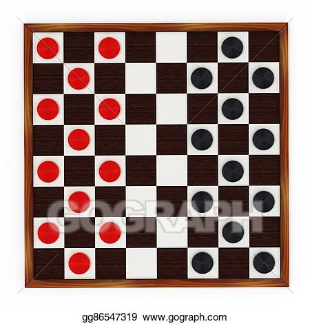 Clipart checkers clip library library Clipart - Checkers game board and pieces. 3d illustration. Stock ... clip library library