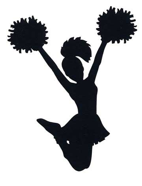 Clipart cheerleader pictures image freeuse library Cheerleading Silhouette Sport Clip art - Cheer png download - 488 ... image freeuse library