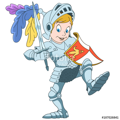 Clipart child protected from arrows with shield svg royalty free Kids in Professions. Cartoon Knight with shield and sword. Design ... svg royalty free