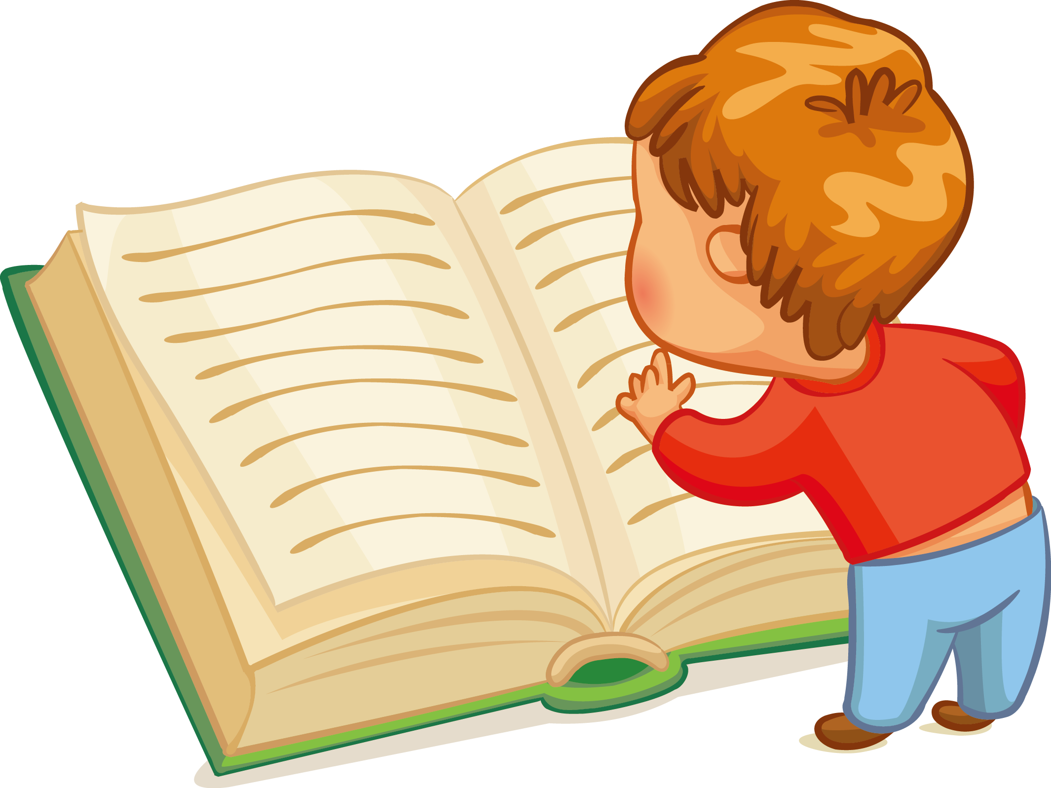 Clipart child reading a book vector library Reading Child Book Clip art - Children reading 2130*1597 transprent ... vector library