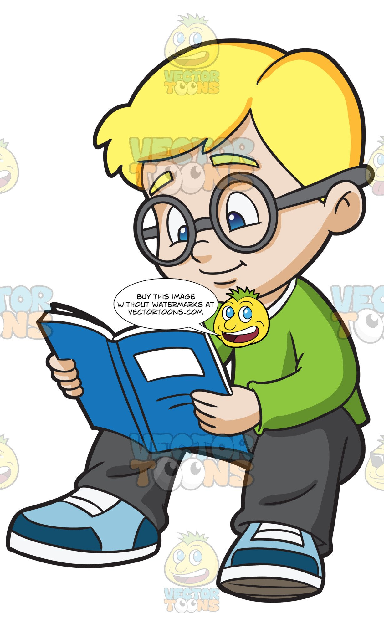 Clipart child studying graphic freeuse download A Boy Studying His Notes graphic freeuse download