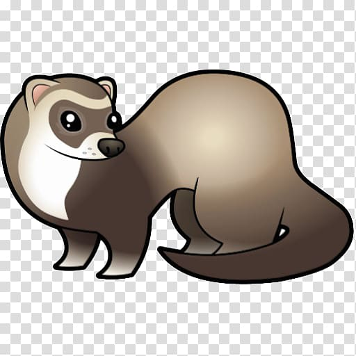 Weasel cartoon clipart clipart Gray weasel illustration, Black-footed ferret Dog Cartoon , ferret ... clipart