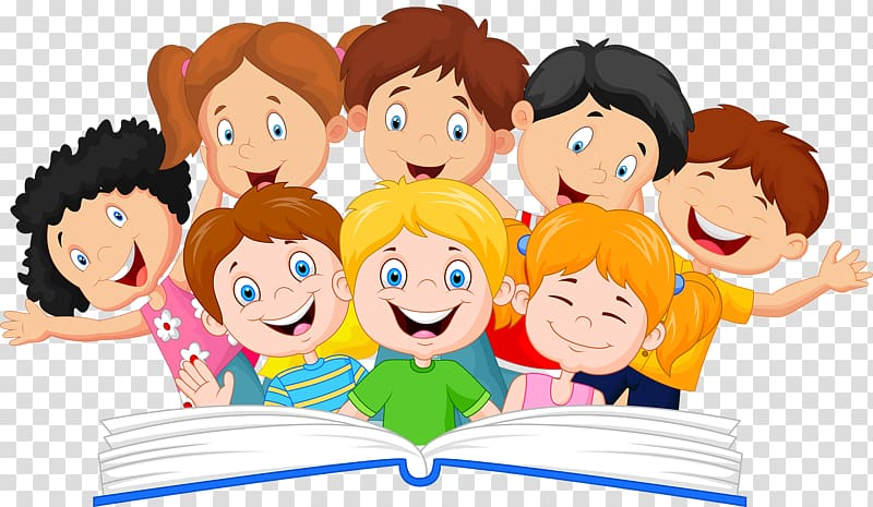 Clipart children and book picture freeuse download Children illustration, Book Reading Illustration, A group of ... picture freeuse download