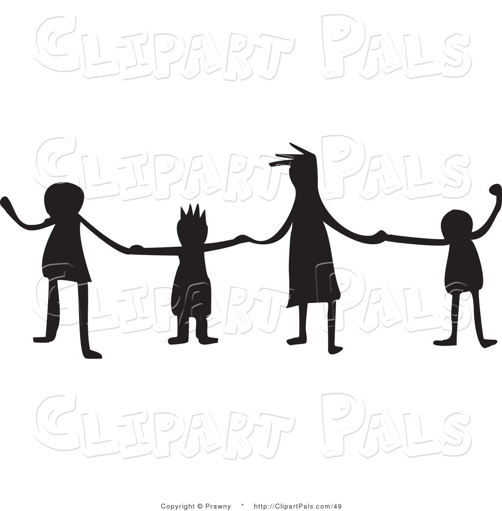 Clipart children group christian black and white image royalty free Free Kids Holding Hands Black And White, Download Free Clip Art ... image royalty free