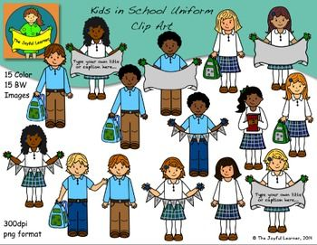 Clipart children group christian black and white jpg black and white download Clip Art: Kids in School Uniform Set | School Theme (unsorted ... jpg black and white download
