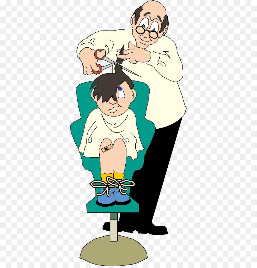 Clipart children hair cut banner stock Man Cartoon png download - 410*934 - Free Transparent Hairdresser ... banner stock