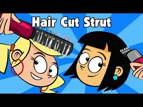 Clipart children hair cut png black and white library Kids song HAIR CUT STRUT children\'s country music line dance video by  Preschool Popstars kid songs png black and white library