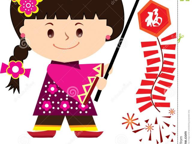 Clipart children in chinese new year parade black and white library Free Chinese New Year Clipart, Download Free Clip Art on Owips.com black and white library