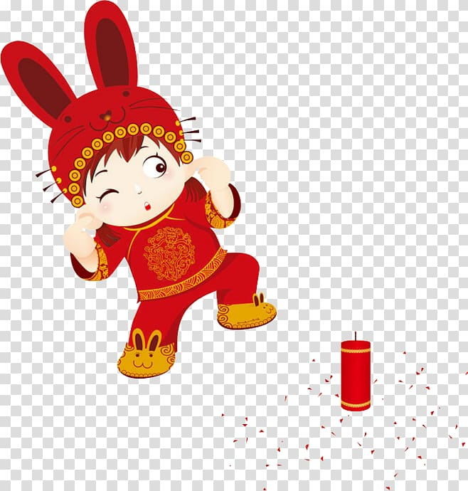 Clipart children in chinese new year parade clip art library library Chinese New Year Firecracker Lion dance , Children set off ... clip art library library