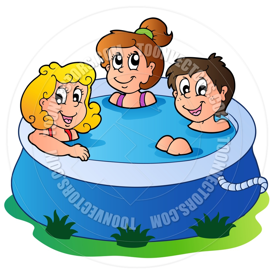 Clipart children in pool clip art black and white library Kids In Pool Clip Art | Clipart Panda - Free Clipart Images clip art black and white library